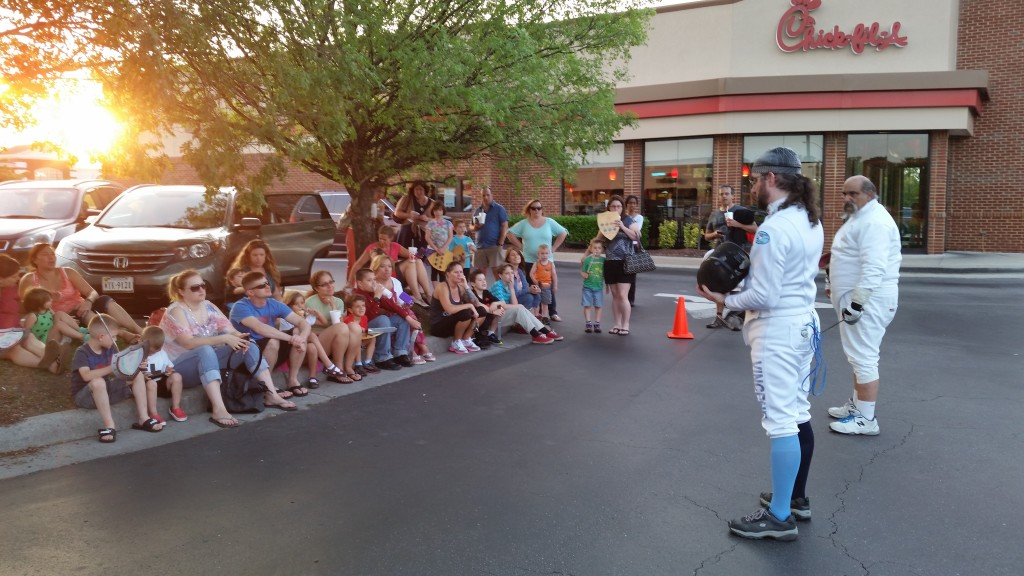 Fencing Demo At Chick Fil A Tidewater Fencing Club