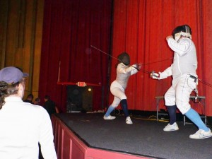 On Stage at The Princess Bride Fencing Demo at The Naro