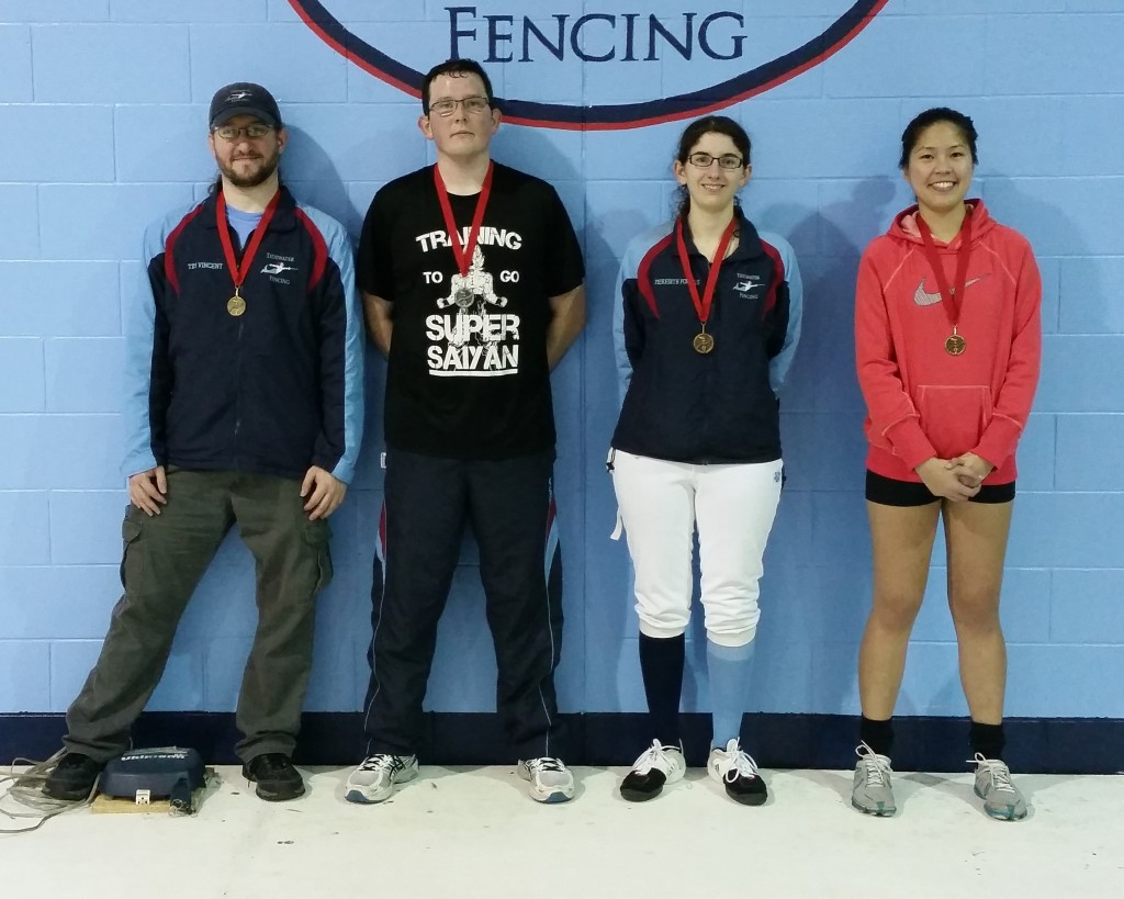December 2015 Senior Mixed Epee Finalists