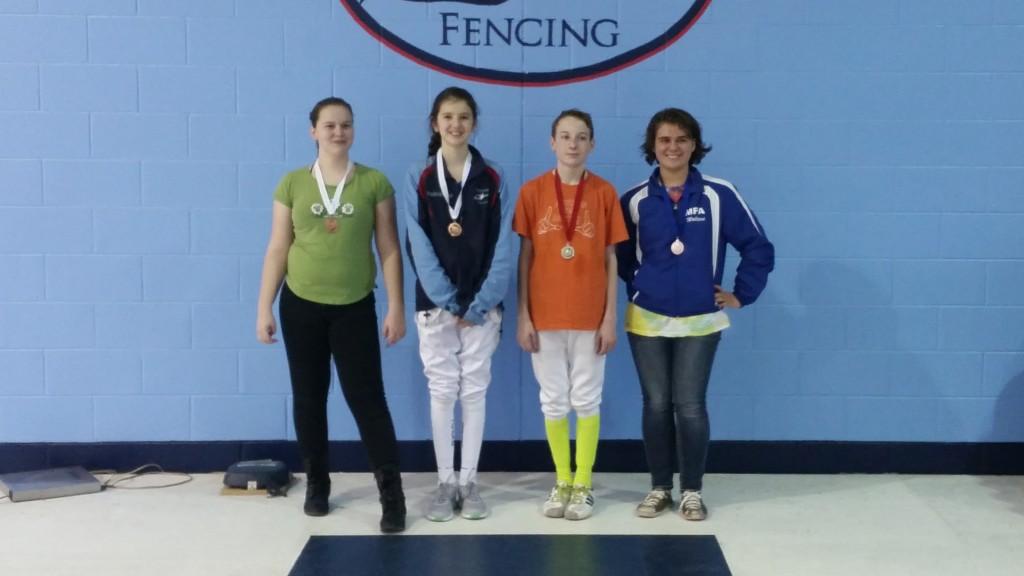 Tidewater Open 2016 Cadet Foil Finalists