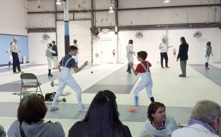 Fencers warming up at the Tidewater Open 2016